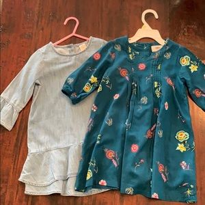 Sz 4 - set of 2 - fall dresses - EUC!!